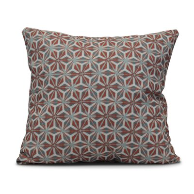 Rafia Water Mosaic Indoor/Outdoor Throw Pillow Size: 16 H x 16 W, Color: Coral