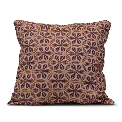 Viet Mosaic Indoor/Outdoor Throw Pillow Size: 18 H x 18 W, Color: Purple