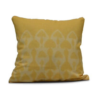 Viet Watermark Indoor/Outdoor Throw Pillow Size: 18 H x 18 W, Color: Yellow