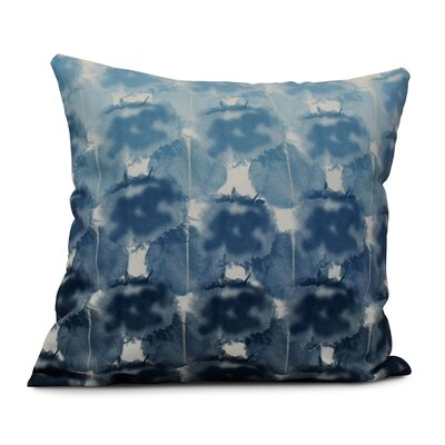 Viet Square Indoor/Outdoor Throw Pillow Size: 18 H x 18 W, Color: Blue