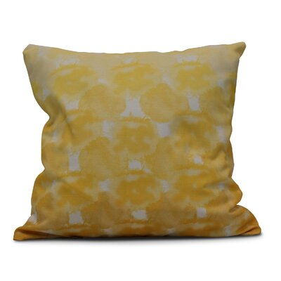 Rafia Beach Clouds Indoor/Outdoor Throw Pillow Size: 18 H x 18 W, Color: Yellow