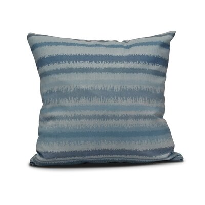 "Rafia Raya De Agua Indoor/Outdoor Throw Pillow Size: 16"" H x 16"" W, Color: Light Blue WDMG5217 32665101"