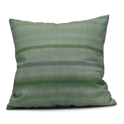 Dorazio Raya De Agua Indoor/Outdoor Throw Pillow Size: 18 H x 18 W, Color: Green