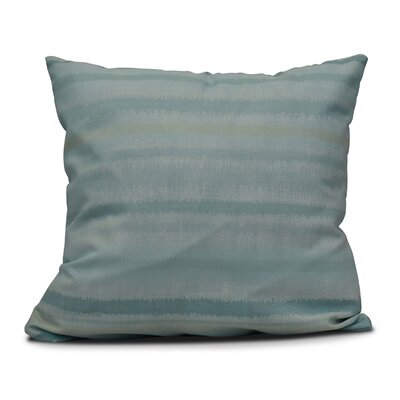 Dorazio Raya De Agua Indoor/Outdoor Throw Pillow Size: 18 H x 18 W, Color: Aqua