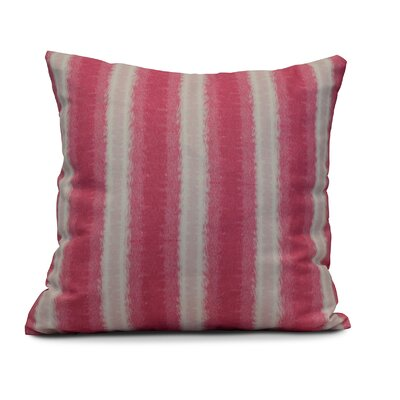 Wilkinsburg Sea Lines Indoor/Outdoor Throw Pillow Color: Pink, Size: 20