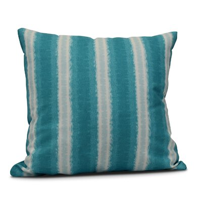 Rafia Sea Lines Indoor/Outdoor Throw Pillow Size: 20 H x 20 W, Color: Teal