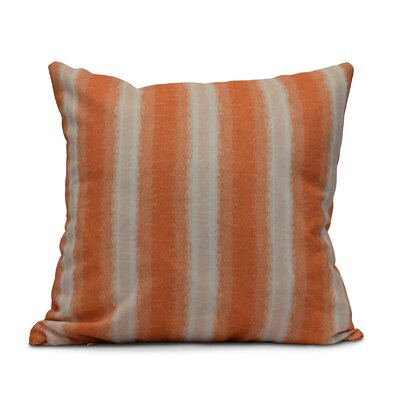Rafia Sea Lines Indoor/Outdoor Throw Pillow Size: 18 H x 18 W, Color: Orange