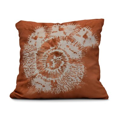 Viet Conch Throw Pillow Color: Coral, Size: 26 H x 26 W
