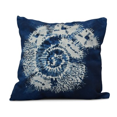 Viet Conch Throw Pillow Size: 16 H x 16 W, Color: Blue
