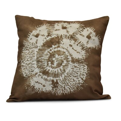 Rafia Conch Throw Pillow Size: 18 H x 18 W, Color: Brown