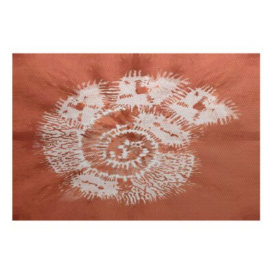 Viet Orange/White Indoor/Outdoor Area Rug Rug Size: 4 x 6