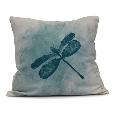 Rafia Dragonfly Summer Throw Pillow Size: 16 H x 16 W