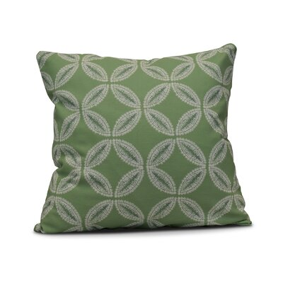Rafia Tidepool Throw Pillow Size: 16 H x 16 W, Color: Green