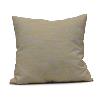 Viet Rolling Waves Throw Pillow Color: Yellow, Size: 16 H x 16 W
