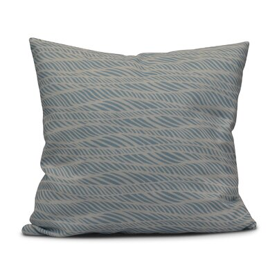 Rafia Rolling Waves Throw Pillow Size: 20 H x 20 W, Color: Light Blue
