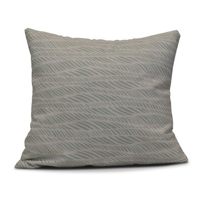 Viet Rolling Waves Throw Pillow Size: 16 H x 16 W, Color: Green