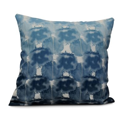 Viet Geometric Print Throw Pillow Size: 16 H x 16 W, Color: Blue