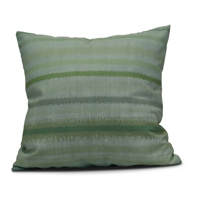 "Rafia Raya De Agua Throw Pillow Size: 16"" H x 16"" W, Color: Green WDMG5255 32665325"