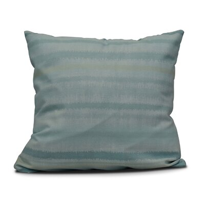 Dorazio Raya De Agua Throw Pillow Size: 18 H x 18 W, Color: Aqua