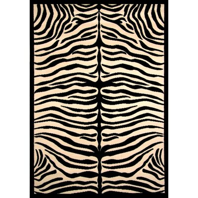 San Jose Black/Ivory Indoor/Outdoor Area Rug