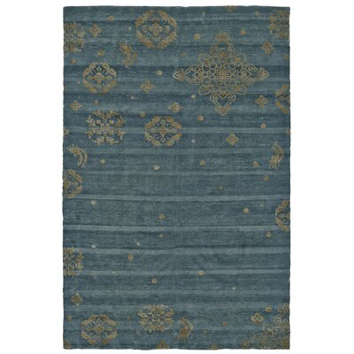 Rush Blue Area Rug Rug Size: Rectangle 56 x 86