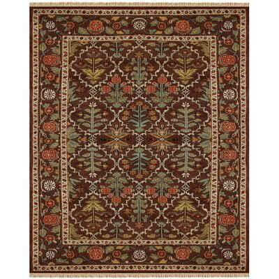 Rusin Brown/Tan Area Rug Rug Size: Rectangle 79 x 99
