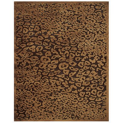 Dabachi Dark Chocolate Area Rug Rug Size: 53 x 76