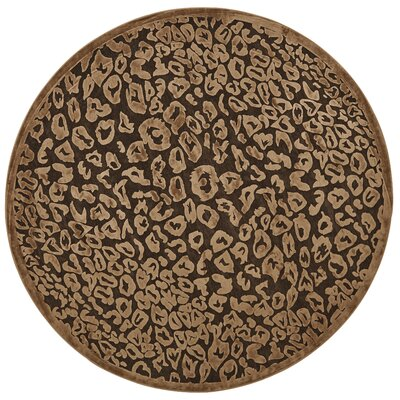 Dabachi Dark Chocolate Area Rug Rug Size: Round 76