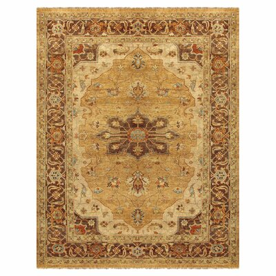 Clignancourt Gold/Brown Area Rug Rug Size: Rectangle 5'6