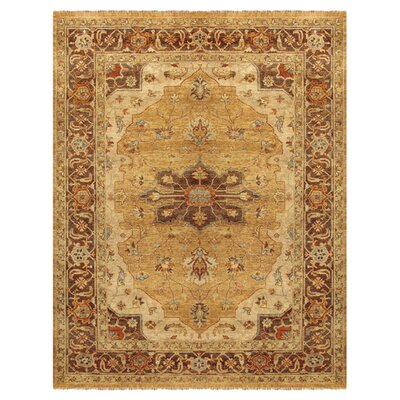 Clignancourt Gold/Brown Area Rug Rug Size: 86 x 116