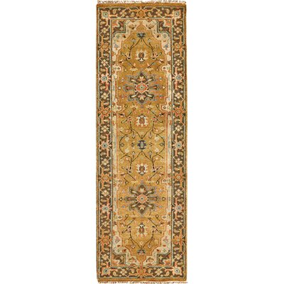 Clignancourt Gold/Brown Area Rug Rug Size: Runner 26 x 8