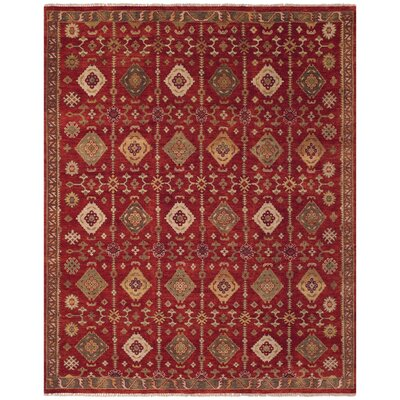 Almohades Red Area Rug Rug Size: 56 x 86