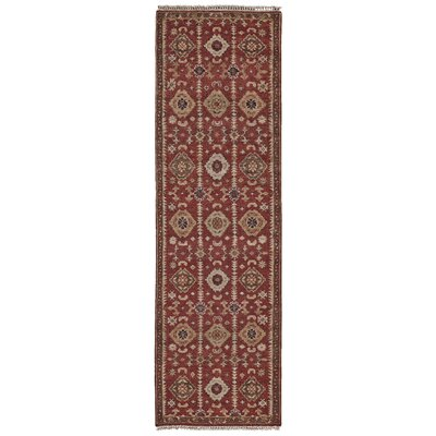 Almohades Red Area Rug Rug Size: Runner 26 x 8