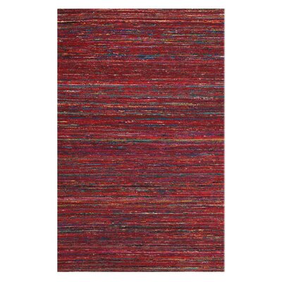 Tieast Red Area Rug Rug Size: 5 x 8
