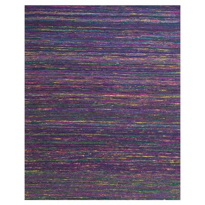 Tieast Handmade Purple Area Rug Rug Size: Rectangle 8 x 11