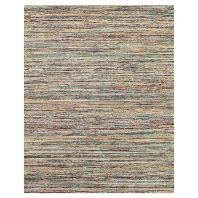 Tieast Teal/Beige Area Rug Rug Size: 36 x 56