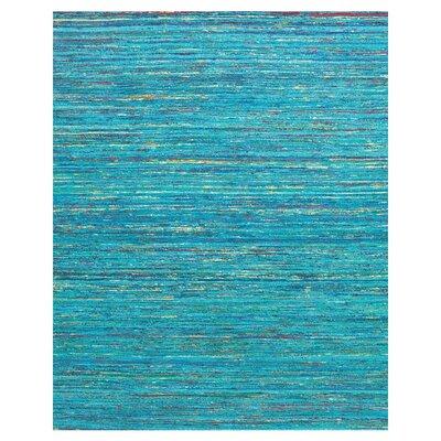 Tieast Aqua Area Rug Rug Size: 8 x 11