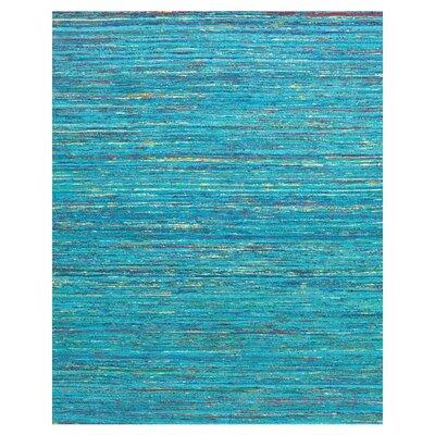 Tieast Aqua Area Rug Rug Size: 36 x 56