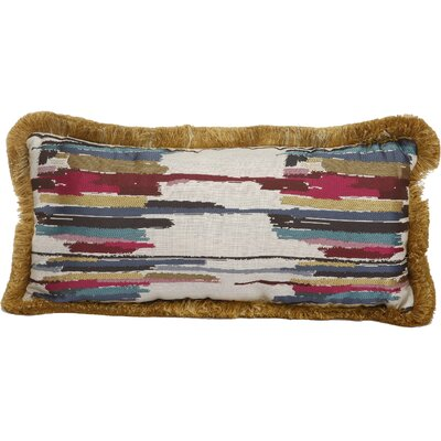 Larraine Woven Cotton Lumbar Pillow