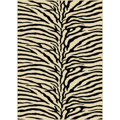Pembroke Pines Beige Animal Oval Area Rug Rug Size: Round 710