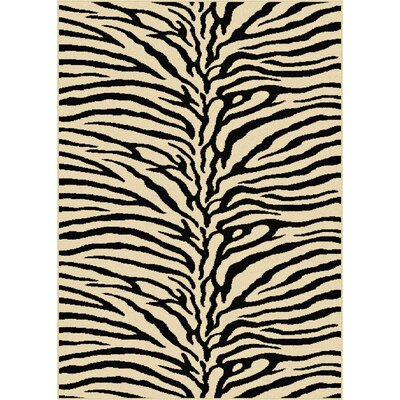 Pembroke Pines Beige Animal Oval Area Rug Rug Size: 76 x 910