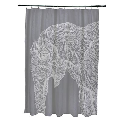 Karle Shower Curtain Color: Gray/ Light Gray
