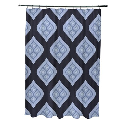 Arnisha Geometric Shower Curtain Color: Navy Blue/Blue