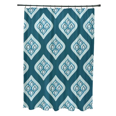 Arnisha Geometric Shower Curtain Color: Teal/Aqua