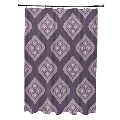 Arnisha Geometric Shower Curtain Color: Purple
