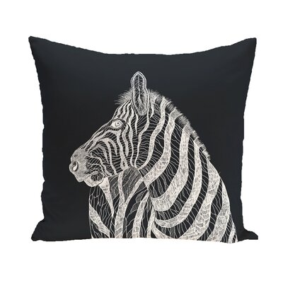 Karle Throw Pillow Color: Black, Size: 18 H x 18 W