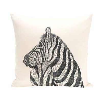Karle Throw Pillow Size: 26 H x 26 D, Color: Ivory/Black
