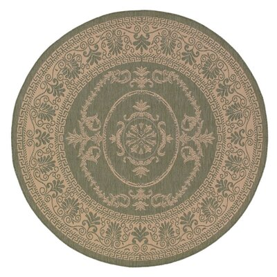 Cateisha Green/Beige Indoor/Outdoor Area Rug