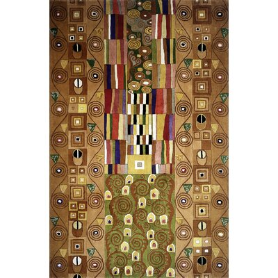 Felicity Hand-Tufted Brown Area Rug Rug Size: Rectangle 3'6