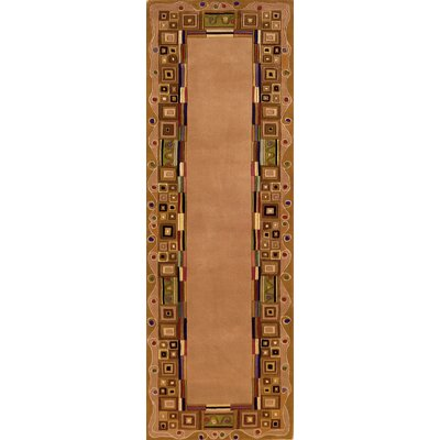 Felicity Hand-Tufted Gold Area Rug Rug Size: Runner 26 x 12